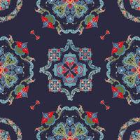 Rosemaling vector pattern 54