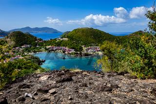 Bucht von Marigot, Terre-de-Haut, Iles des Saintes, Les Saintes, Guadeloupe, Kleine Antillen, Karibik.