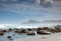 Sandy beach on western side of Cape Town peninsula