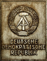 Schild Deutsche Demokratische Republik