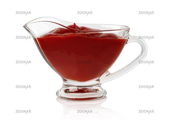 Bowl with ketchup sauce