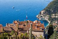 Eze Village At Mediterranean Sea In France