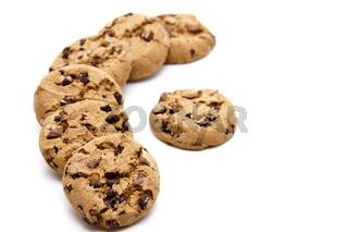 Kekse mit Schokolade