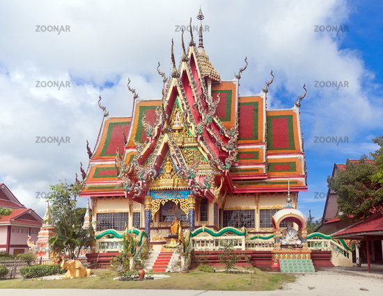 One of buildings of Wat Plai Laem - buddhist temple