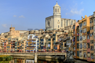Riverside Buildings Girona Catalonia Spain