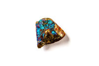 Chalcopyrite isolated on white background