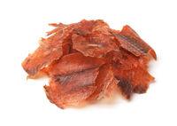 Crispy dry smoked salmon chips