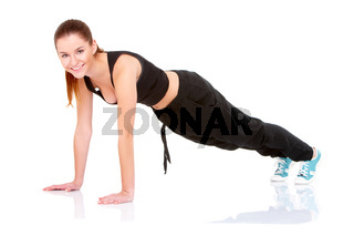 beautiful fitness woman doing exercise