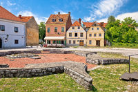 Town of Karlovac square and colorful architecture view