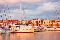 Boats and yachts in the port of Aegina