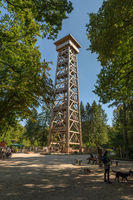 New wooden observation tower Goetheturm Frankfurt, Germany