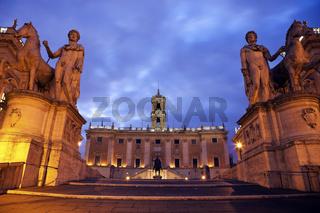 Equestrian Statue of Marcus Aurelius and Comune Roma Gabinetto Sindaco