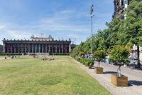Park Lustgarten with Altes Museum in Berlin, Germany