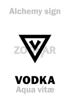 Alchemy: AQUA VITAE (Ignis aqua, Spiritus vini) / Vodka