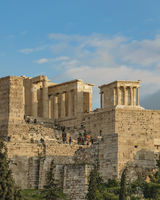 Acropolis Long Distant View, Athens Greece