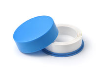 Blue collapsible reusable plastic cup