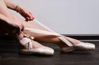 ballerina feet closeup