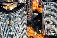 Night view seen from the Yokohama Landmark Tower
