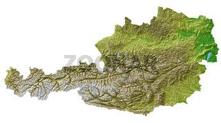 Österreich - Topografische Relief Karte
