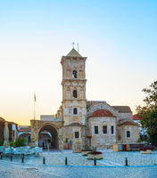 Lazarus church cafe Larnaka Cyprus
