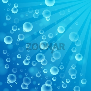 Abstract background with bubbles 2 - picture illustration.