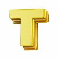 Yellow font Letter T 3D