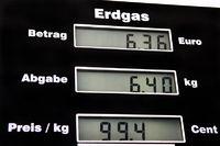 Erdgas Tanksäule