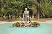 Rome, Villa Borghese park. Moses Fountain