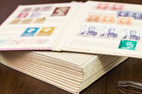 Book of postage stamps