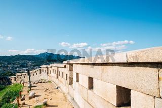 Naksan park fortress trail in Seoul, Korea