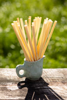 Biodegradable compostable natural straws, made from cane