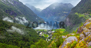 Geiranger Fjord from Dalsnibba mount, Norge