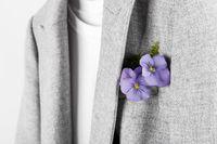 Grey jacket on the rack