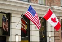 Canada USA Flags