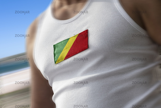 The national flag of Congo on the athlete's chest
