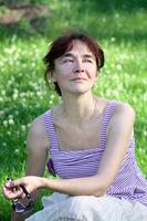 Woman portrait middle age outdoor