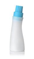 Plastic basting bottle with silicone brush