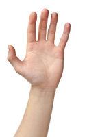 Human hand sign