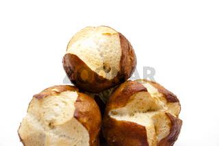 Laugenbrötchen gebacken