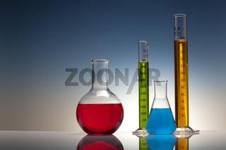 Reagenzgläser in einem Labor