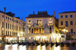 Blue hour at the Grand Canal with Gondola
