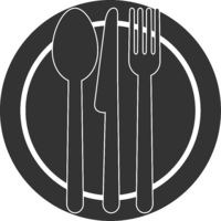 plate and cutlery symbol or icon
