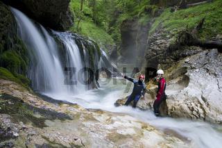 Wasserreicher Canyon im Nationalpark Kalkalpen, Oberösterreich, Österreich