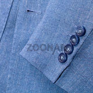 fragment of blue silk men's suit