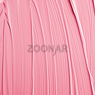 Pink lipstick or lip gloss texture as cosmetic background, makeup and beauty cosmetics product for luxury brand, holiday flatlay backdrop or abstract wall art and paint strokes