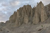 Moonland surface and rocky mountains, Spiti, Himachal Pradesh, India
