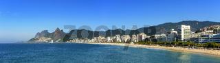 Panoramic view of Ipanema beach in Rio de Janeiro