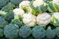 Brokkoli und Blumenkohl zum Verkauf