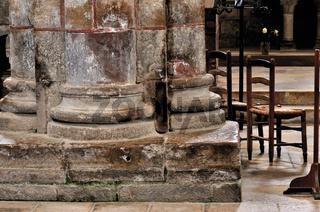 Frankreich: Säule der Abtei St. Foy in Conques