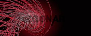 Powerful stripe wave panorama background design illustration